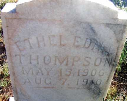THOMPSON, ETHEL EDNA - Apache County, Arizona | ETHEL EDNA THOMPSON - Arizona Gravestone Photos