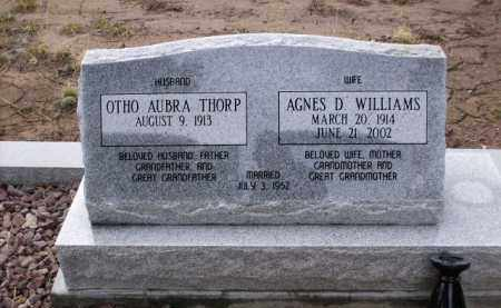 THORP, AGNES D. - Apache County, Arizona | AGNES D. THORP - Arizona Gravestone Photos