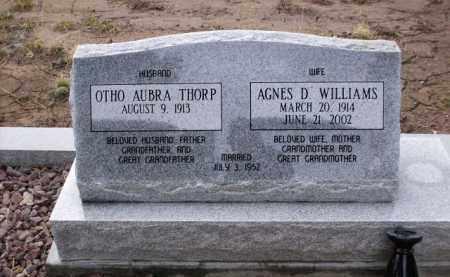 WILLIAMS THORP, AGNES D. - Apache County, Arizona | AGNES D. WILLIAMS THORP - Arizona Gravestone Photos