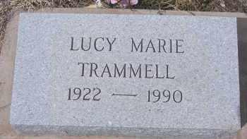 TRAMMELL, LUCY MARIE - Apache County, Arizona   LUCY MARIE TRAMMELL - Arizona Gravestone Photos