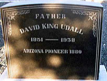 UDALL, DAVID KING - Apache County, Arizona   DAVID KING UDALL - Arizona Gravestone Photos