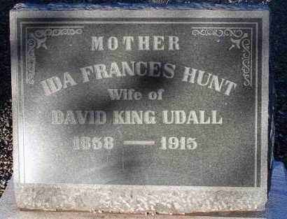 UDALL, IDA FRANCES - Apache County, Arizona | IDA FRANCES UDALL - Arizona Gravestone Photos