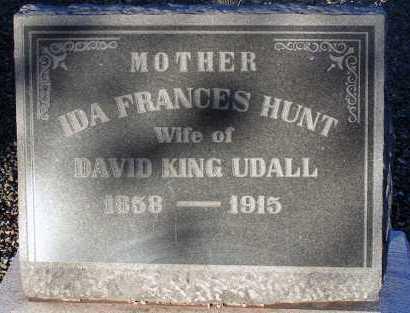 HUNT UDALL, IDA FRANCES - Apache County, Arizona | IDA FRANCES HUNT UDALL - Arizona Gravestone Photos