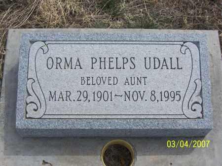 PHELPS UDALL, ORMA - Apache County, Arizona   ORMA PHELPS UDALL - Arizona Gravestone Photos