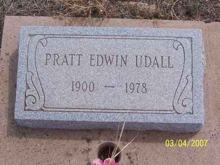 UDALL, PRATT EDWIN - Apache County, Arizona | PRATT EDWIN UDALL - Arizona Gravestone Photos