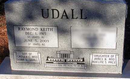 UDALL, RAYMOND KEITH - Apache County, Arizona | RAYMOND KEITH UDALL - Arizona Gravestone Photos