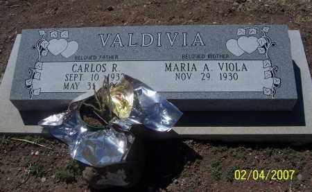 VALDIVIA, MARIA A. VIOLA - Apache County, Arizona | MARIA A. VIOLA VALDIVIA - Arizona Gravestone Photos
