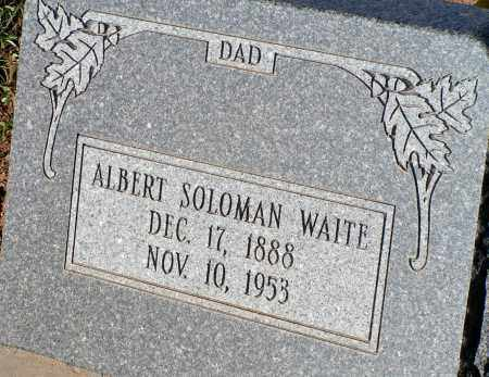 WAITE, ALBERT SOLOMAN - Apache County, Arizona   ALBERT SOLOMAN WAITE - Arizona Gravestone Photos