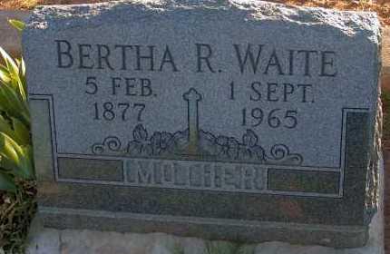 WAITE, BERTHA R. - Apache County, Arizona | BERTHA R. WAITE - Arizona Gravestone Photos