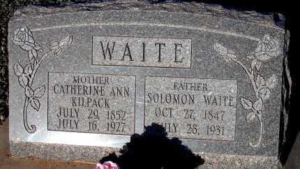 WAITE, CATHERINE ANN - Apache County, Arizona   CATHERINE ANN WAITE - Arizona Gravestone Photos