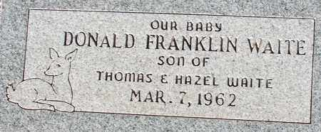 WAITE, DONALD FRANKLIN - Apache County, Arizona | DONALD FRANKLIN WAITE - Arizona Gravestone Photos