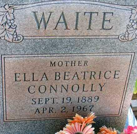 CONNOLLY WAITE, ELLA BEATRICE - Apache County, Arizona | ELLA BEATRICE CONNOLLY WAITE - Arizona Gravestone Photos