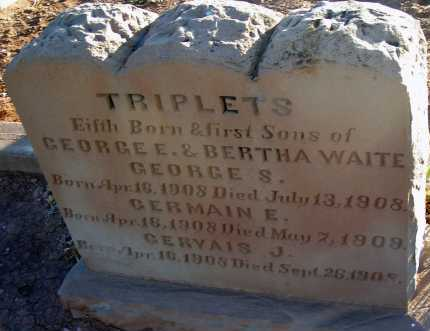 WAITE, GERMAIN E. - Apache County, Arizona | GERMAIN E. WAITE - Arizona Gravestone Photos