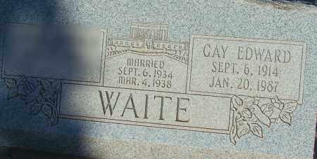 WAITE, GAY EDWARD - Apache County, Arizona | GAY EDWARD WAITE - Arizona Gravestone Photos