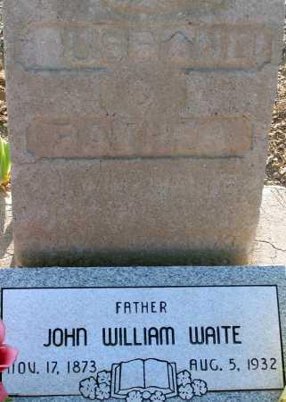 WAITE, JOHN WILLIAM - Apache County, Arizona | JOHN WILLIAM WAITE - Arizona Gravestone Photos