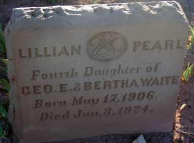 WAITE, LILLIAN PEARL - Apache County, Arizona | LILLIAN PEARL WAITE - Arizona Gravestone Photos