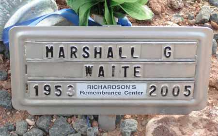 WAITE, MARSHALL G. - Apache County, Arizona | MARSHALL G. WAITE - Arizona Gravestone Photos
