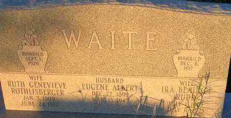 RUDD WAITE, IRA BEATRICE - Apache County, Arizona | IRA BEATRICE RUDD WAITE - Arizona Gravestone Photos