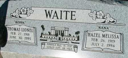 WAITE, THOMAS LIONEL - Apache County, Arizona | THOMAS LIONEL WAITE - Arizona Gravestone Photos