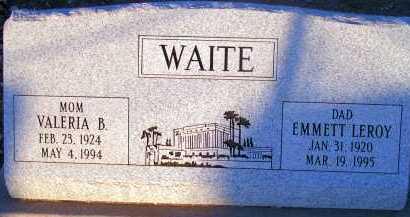 WAITE, VALERIA B. - Apache County, Arizona   VALERIA B. WAITE - Arizona Gravestone Photos