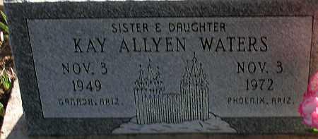 WATERS, KAY ALLYEN - Apache County, Arizona   KAY ALLYEN WATERS - Arizona Gravestone Photos