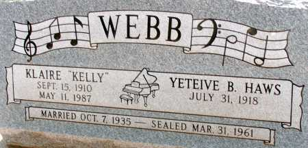 WEBB, YETEIVE B. - Apache County, Arizona | YETEIVE B. WEBB - Arizona Gravestone Photos