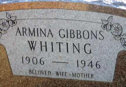 WHITING, ARMINA - Apache County, Arizona   ARMINA WHITING - Arizona Gravestone Photos