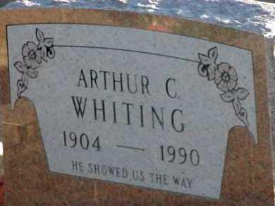 WHITING, ARTHUR C. - Apache County, Arizona   ARTHUR C. WHITING - Arizona Gravestone Photos