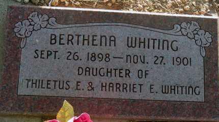 WHITING, BERTHENA - Apache County, Arizona | BERTHENA WHITING - Arizona Gravestone Photos