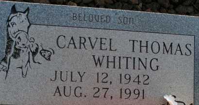 WHITING, CARVEL THOMAS - Apache County, Arizona | CARVEL THOMAS WHITING - Arizona Gravestone Photos