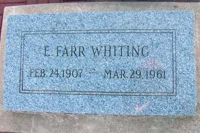WHITING, E. FARR - Apache County, Arizona | E. FARR WHITING - Arizona Gravestone Photos