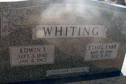 WHITING, EDWIN I. - Apache County, Arizona | EDWIN I. WHITING - Arizona Gravestone Photos