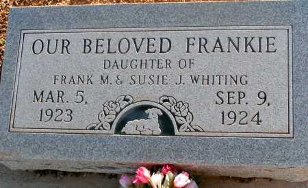 WHITING, FRANKIE - Apache County, Arizona | FRANKIE WHITING - Arizona Gravestone Photos