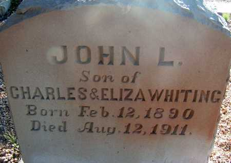 WHITING, JOHN L. - Apache County, Arizona | JOHN L. WHITING - Arizona Gravestone Photos