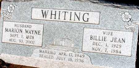 WHITING, BILLIE JEAN - Apache County, Arizona | BILLIE JEAN WHITING - Arizona Gravestone Photos