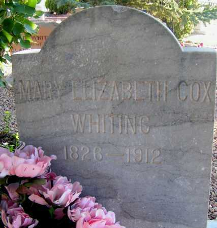 COX WHITING, MARY ELIZABETH - Apache County, Arizona | MARY ELIZABETH COX WHITING - Arizona Gravestone Photos