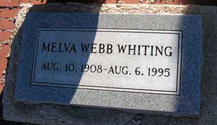 WEBB WHITING, MELVA - Apache County, Arizona | MELVA WEBB WHITING - Arizona Gravestone Photos