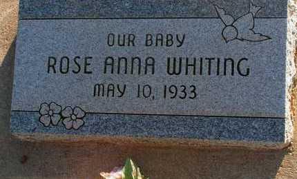WHITING, ROSE ANNA - Apache County, Arizona | ROSE ANNA WHITING - Arizona Gravestone Photos