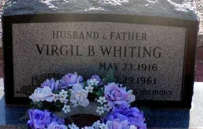 WHITING, VIRGIL B. - Apache County, Arizona | VIRGIL B. WHITING - Arizona Gravestone Photos