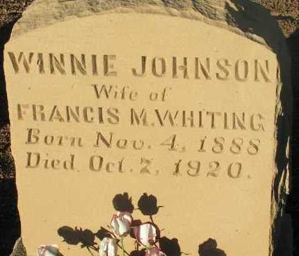JOHNSON WHITING, WINNIE - Apache County, Arizona | WINNIE JOHNSON WHITING - Arizona Gravestone Photos