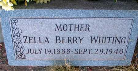 BERRY WHITING, ZELLA - Apache County, Arizona | ZELLA BERRY WHITING - Arizona Gravestone Photos