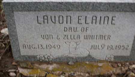 WHITMER, LAVON ELAINE - Apache County, Arizona | LAVON ELAINE WHITMER - Arizona Gravestone Photos