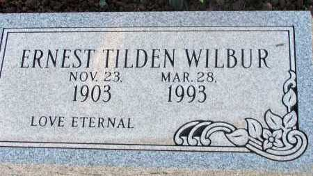 WILBUR, ERNEST TILDEN - Apache County, Arizona | ERNEST TILDEN WILBUR - Arizona Gravestone Photos