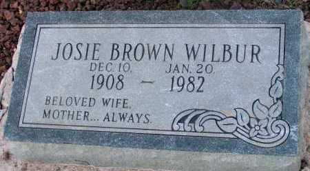 BROWN WILBUR, JOSIE - Apache County, Arizona | JOSIE BROWN WILBUR - Arizona Gravestone Photos