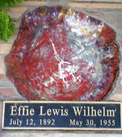 LEWIS WILHELM, EFFIE - Apache County, Arizona   EFFIE LEWIS WILHELM - Arizona Gravestone Photos