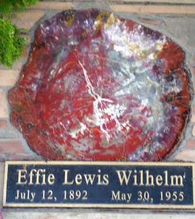 WILHELM, EFFIE - Apache County, Arizona | EFFIE WILHELM - Arizona Gravestone Photos