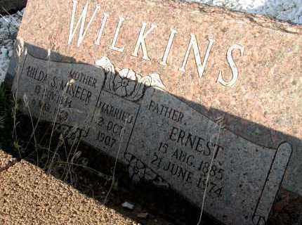 MINEER WILKINS, HILDA S. - Apache County, Arizona | HILDA S. MINEER WILKINS - Arizona Gravestone Photos