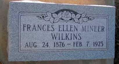 MINEER WILKINS, FRANCES ELLEN - Apache County, Arizona | FRANCES ELLEN MINEER WILKINS - Arizona Gravestone Photos