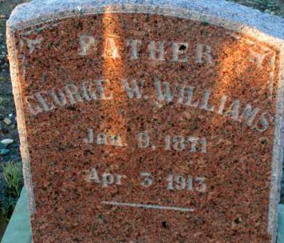 WILLIAMS, GEORGE W. - Apache County, Arizona | GEORGE W. WILLIAMS - Arizona Gravestone Photos