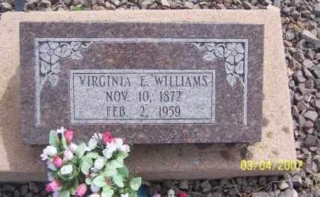 WILLIAMS, VIRGINIA E. - Apache County, Arizona   VIRGINIA E. WILLIAMS - Arizona Gravestone Photos